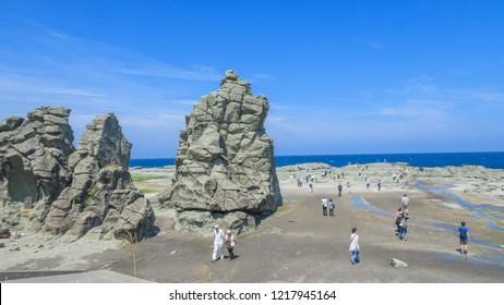 Japan Tohoku Aomori Senjojiki Rock Seaside