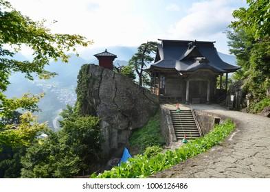 Japan Tohoku Yamagata city Yama-dera Mountain Temple