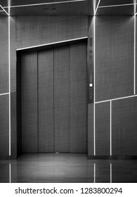 Japan, Tokyo - April 24, 2018: beautiful contemporary design of the elevator in Tokyo newest and biggest luxury shopping centre Ginza Six