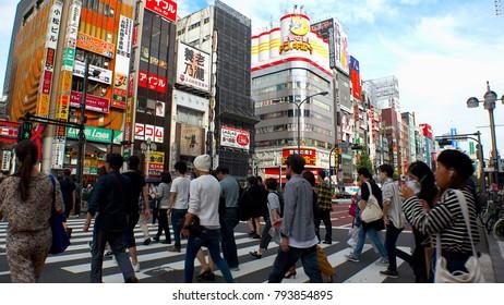 Japan Tokyo Shinjuku Kabukicho area  October 2017