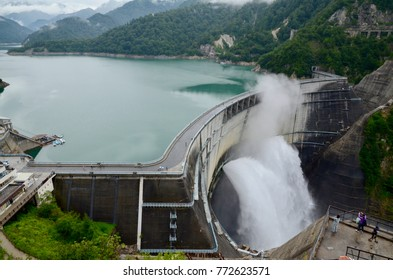 Japan Toyama Tateyama Kurobe Alpine Route Kurobe Dam