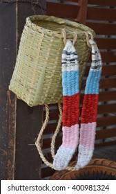 Japanese basketry pocket