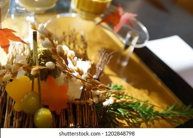 "Japanese beautiful dish ""Kaiseki"" Plate"