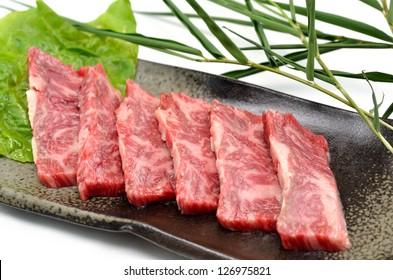 Japanese beef called YAKINIKU