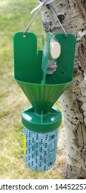 Japanese Beetle Trap - this is the type of trap that serves as a multi functional trap as it can also provide infomation on potential infestatation. It has both the pheromones and floral lure