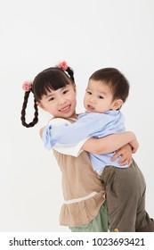 Japanese boys and girls play naice