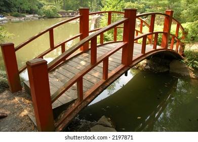 Japanese bridge in garden 2