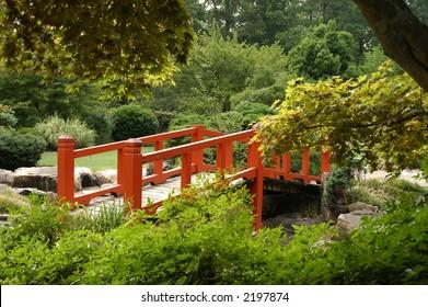 Japanese bridge in garden 4