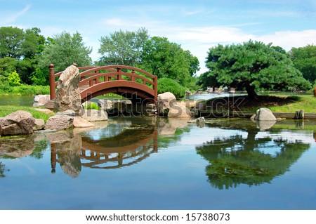Japanese Bridge Osaka Garden Located Jackson Stock Photo (Edit Now ...