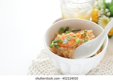 Japanese broth rice, Zosui with tea