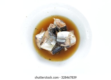 Japanese can food Pacific saury simmered with soy sauce