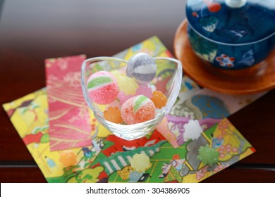 "Japanese candies.They are called â?�Amedama"" and â?�Konpeitohâ?�. It's multicolored and includes the pretty design. It's popular with Japanese children from the old days."