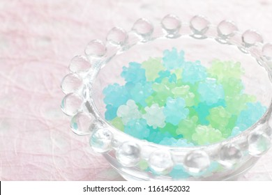 Japanese candy, Konpeito summer color candy