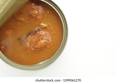 Japanese canned food, Miso and mackerel simmered