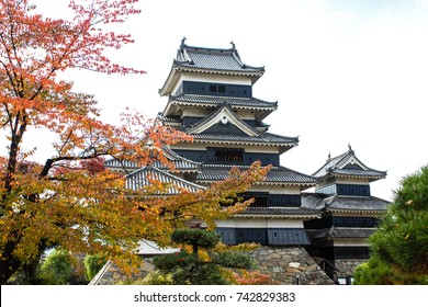Japanese castle in Autumn.