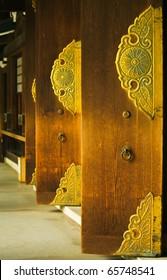 Japanese Chapel Doors (Meiji Shrine), Tokyo, Japan