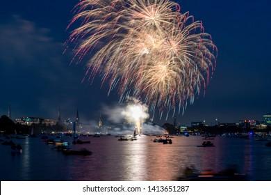 Japanese cherry blossom celebration in Hamburg, Germany Firework