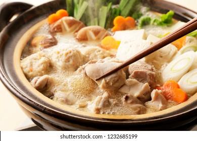 Japanese chicken hot pot