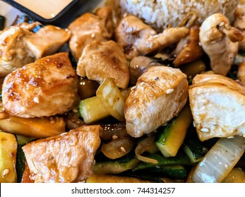 Japanese chicken and vegetable hibachi