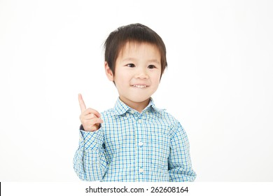 Japanese child pointing side