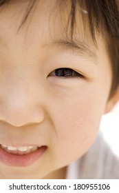 A Japanese child smiling
