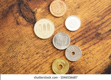 Japanese coin. All coin types.