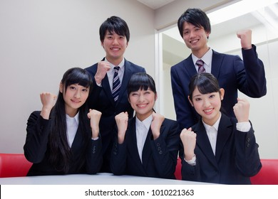 Japanese college students to the job hunting
