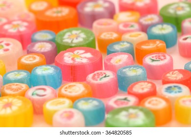 Japanese colorful candies