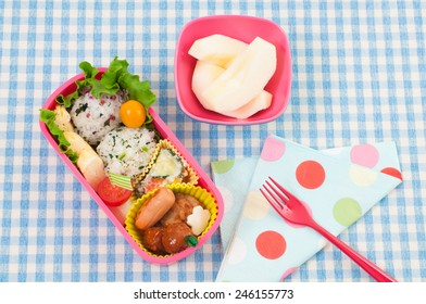 Japanese colorful lunch