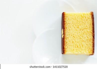 Japanese confectionery, gold leaf Castella cake