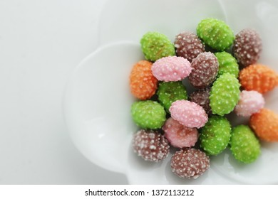 Japanese confectionery , multiple color candy