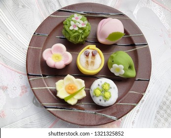 Japanese confectionery spring wagashi collection