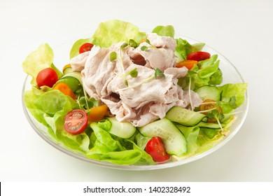 Japanese cooled parboiled pork salad