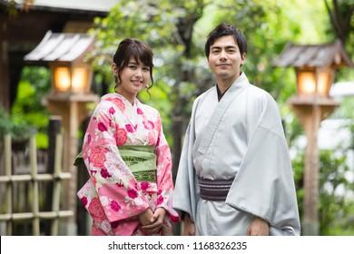 Japanese couple of portrait