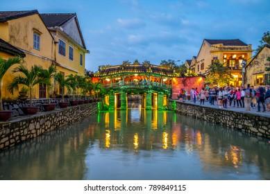 Japanese Covered Bridge, also called Lai Vien Kieu