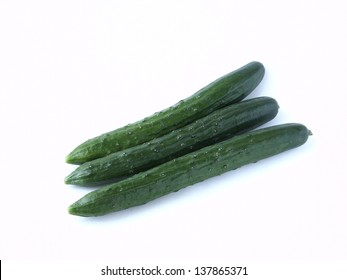 Japanese cucumber isolated on white background