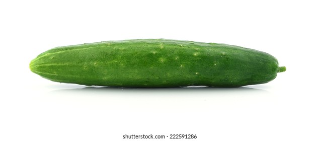 japanese cucumber on white background