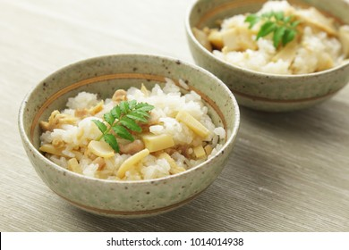 Japanese cuisine, Cooked rice with bamboo shoots