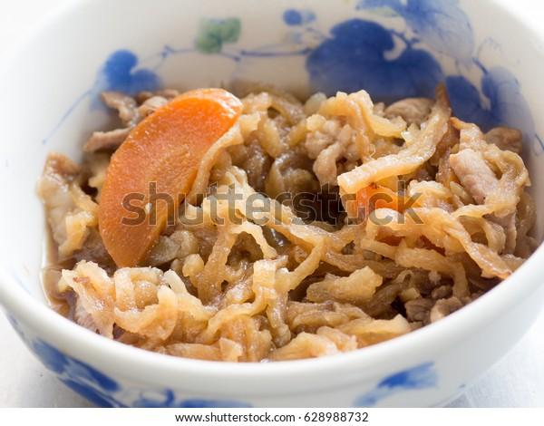 Japanese cuisine, dried shredded radish called Kiriboshi Daikon