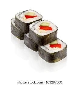 Japanese cuisine. Maki sushi.