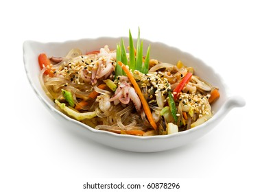 Japanese Cuisine - Rice Noodle with Seafoods and Vegetables