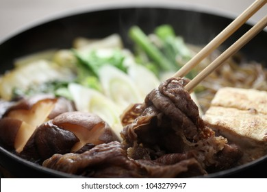 Japanese cuisine , Sukiyaki