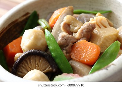 Japanese cuisine,Chikuzenni,Simmered Root Vegetables with Chicken