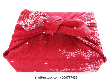 Japanese culture item, Furoshiki for wrapping gift and lunch box image