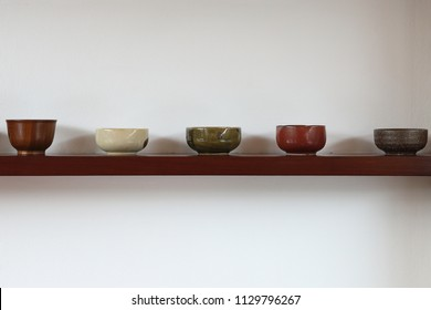 Japanese cup on wood background