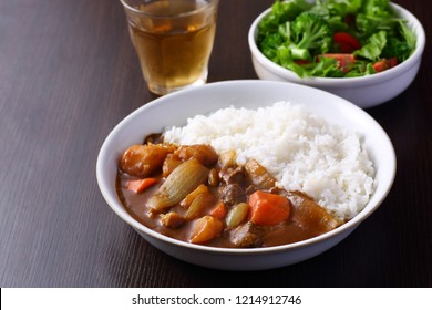 Japanese curry on the table