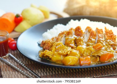 Japanese Curry is one of the most popular dishes in Japan. It is commonly served with streamed rice and tonkatsu.