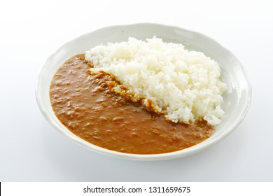 Japanese curry and rice.