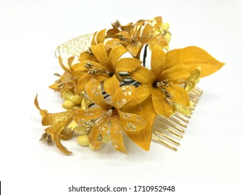 japanese decorative hair pin  isolated on the white background