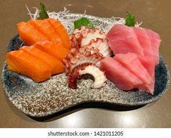 Japanese delicious sashimi raw combo